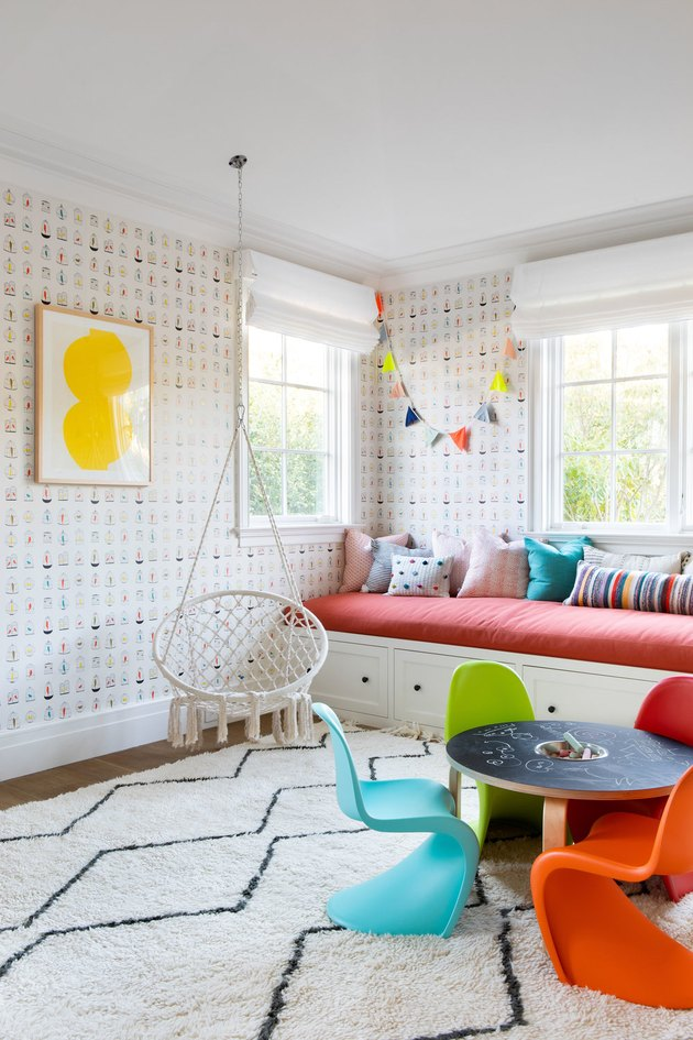 Playroom in Pacific Palisades House by Chango & Co.
