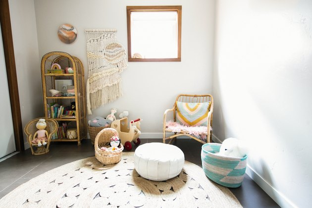 Playroom idea with Rug and Toys in Wheeler House