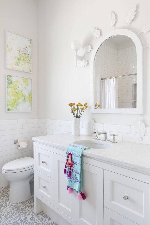 white bathroom backsplash ideas materials and advice