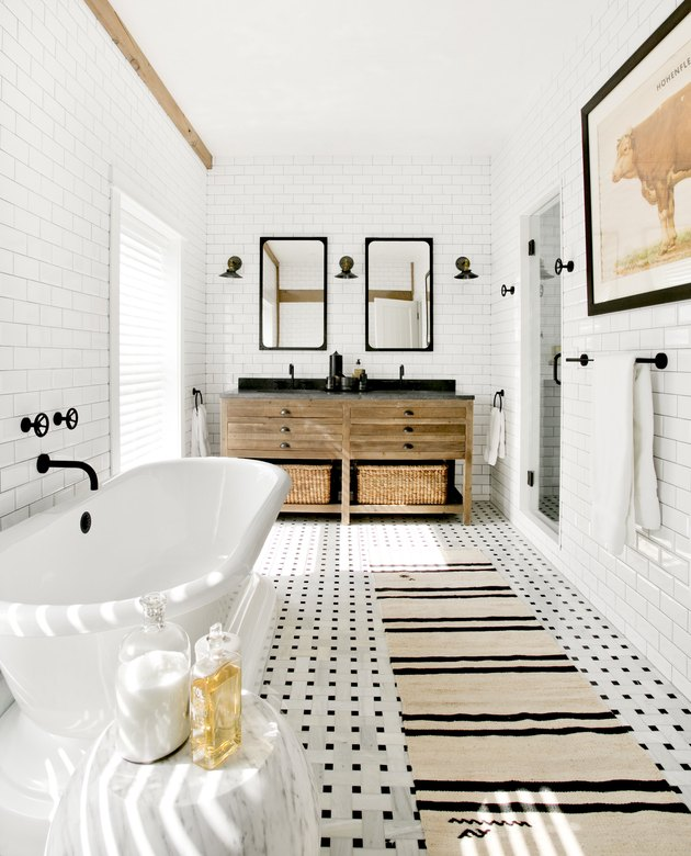 Ultra modern farmhouse bathroom