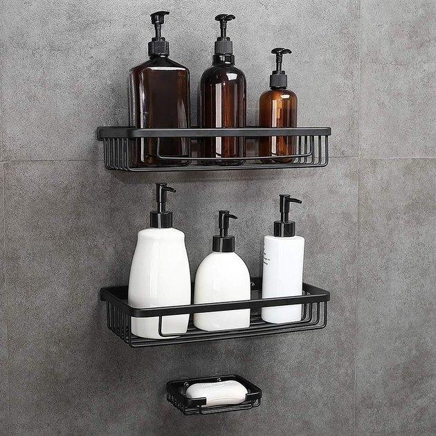 Geruike Adhesive Shower Shelves