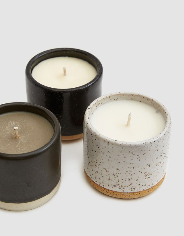 Norden Ceramic Candle Set, $95