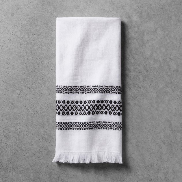 Hearth & Hand Black/White Hand Towel, $5.99