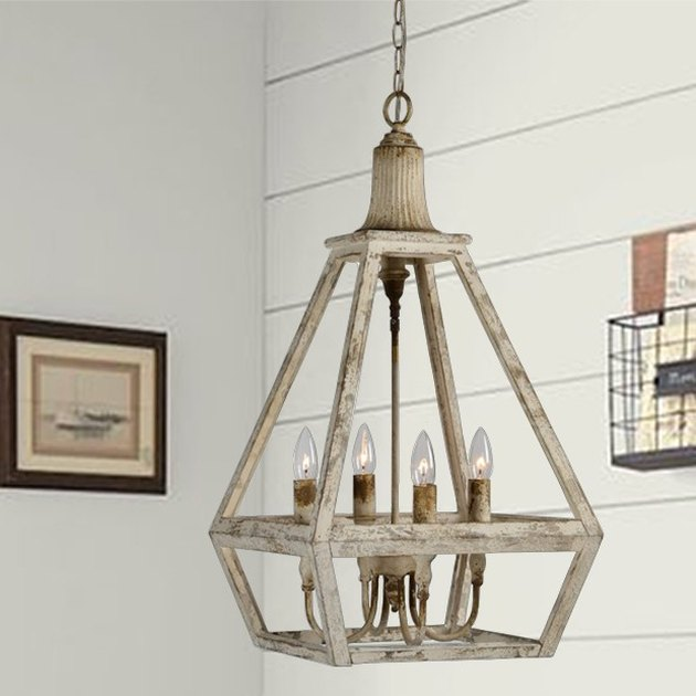 distressed wood pendant lamp