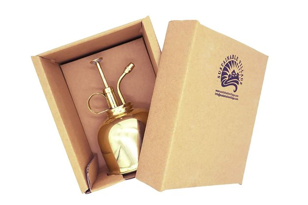 Sustainable Village Brass Mister, $29.99