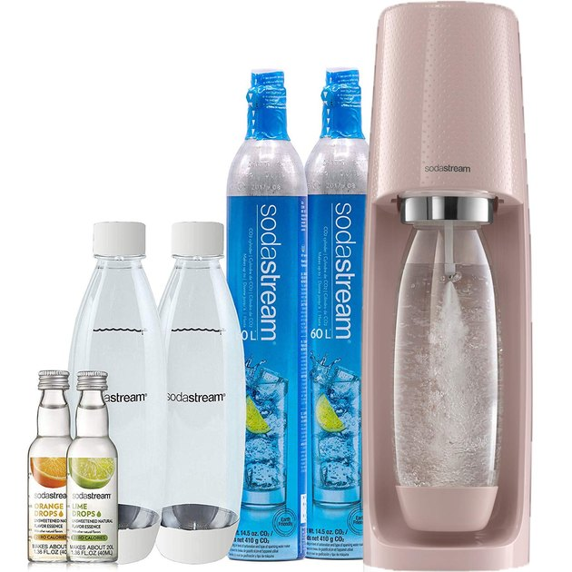 SodaStream Fizzi Sparkling Water Maker Bundle in Pink