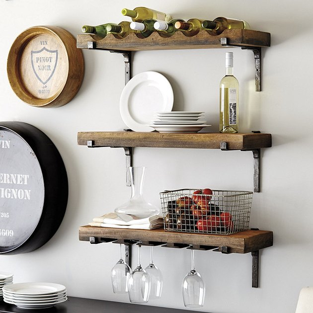 farmhouse style wine rack