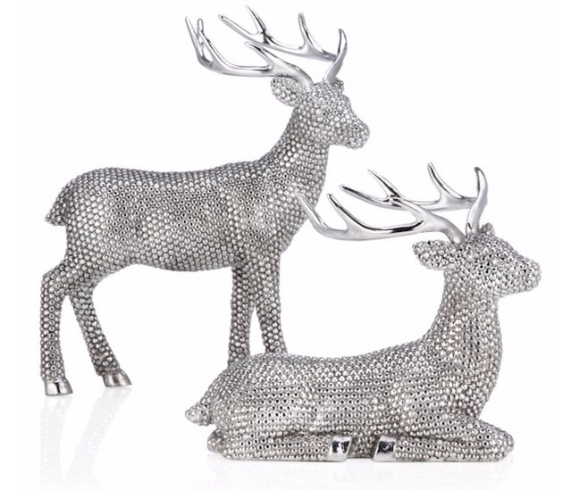 glimmering deer decorations