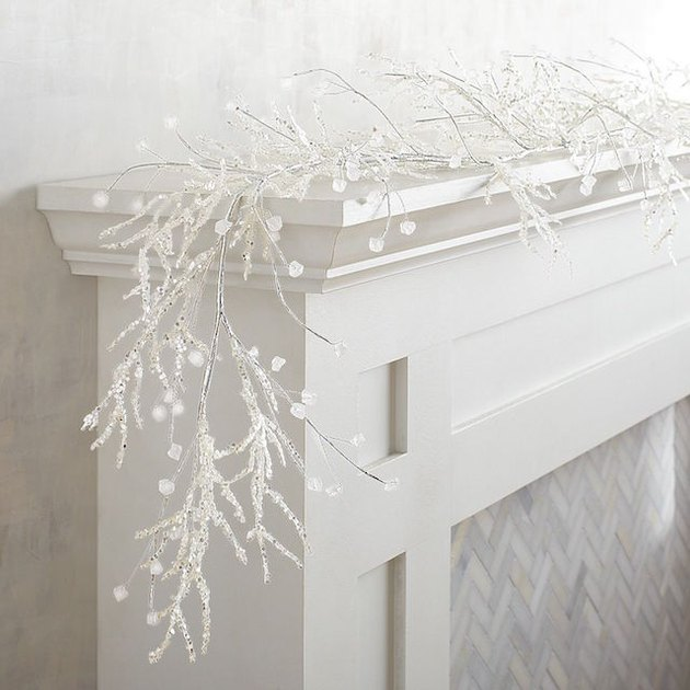 wintery lit garland