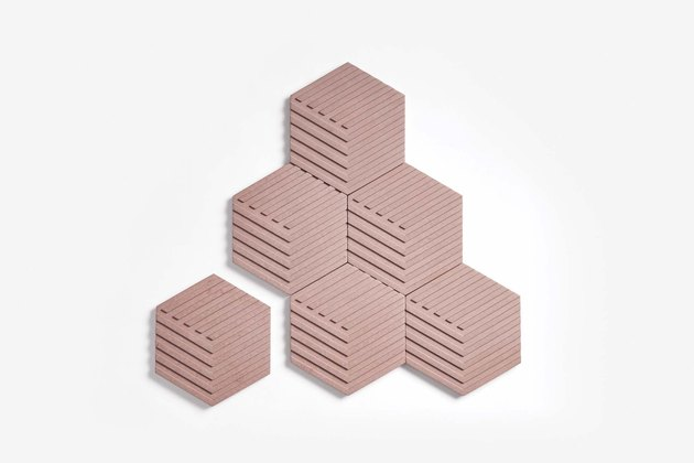 concrete coasters in pink from Areaware