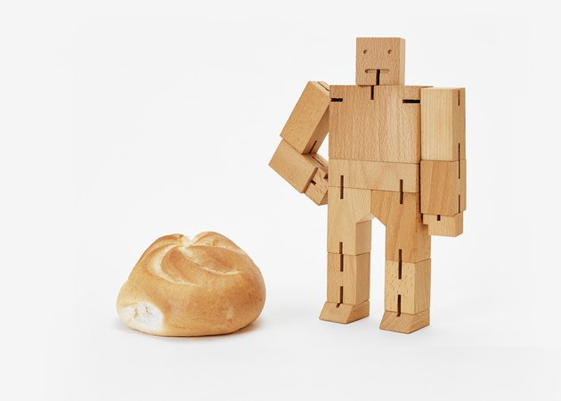 wooden toy robot from Areaware