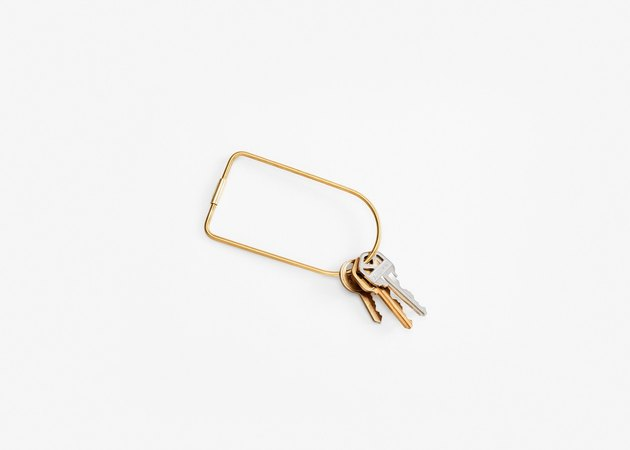 brass keyring with keys from Areaware