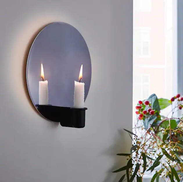 wall sconce with candlestick