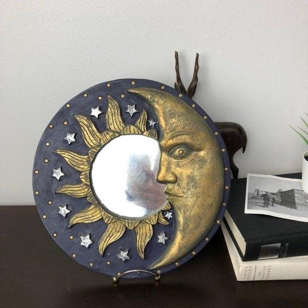 90s sun moon mirror