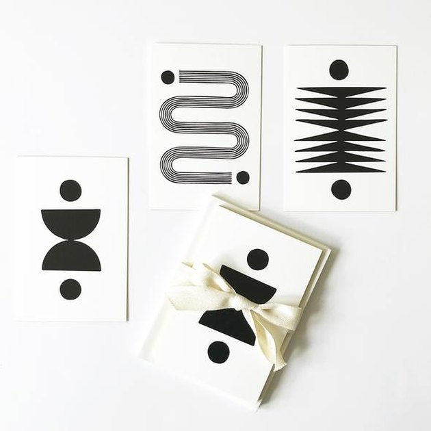 notecards with geometric patterns