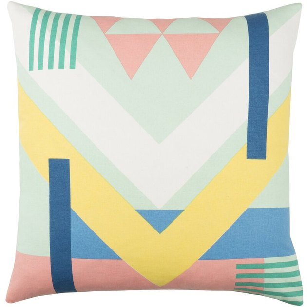 abstract multicolored throw pillow