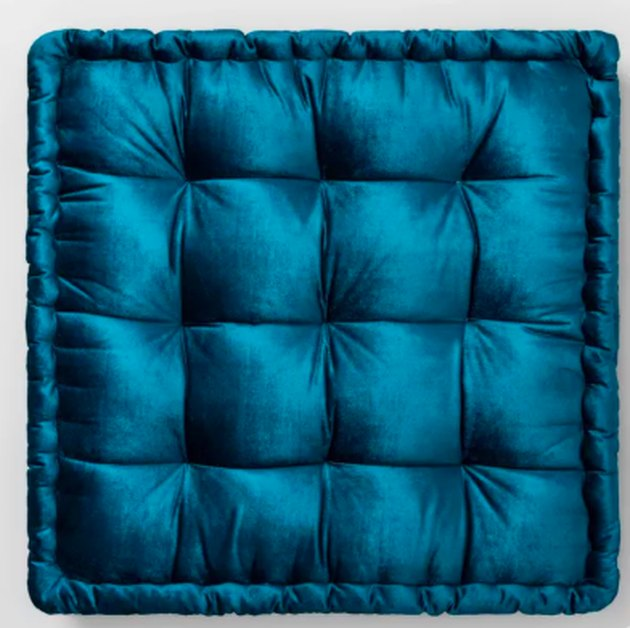 velvet floor oversize pillow