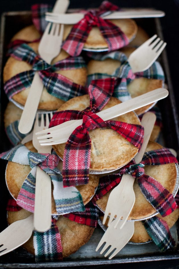mini pies as party favors