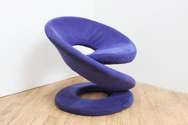 Vintage Purple Spiral Chair, $900