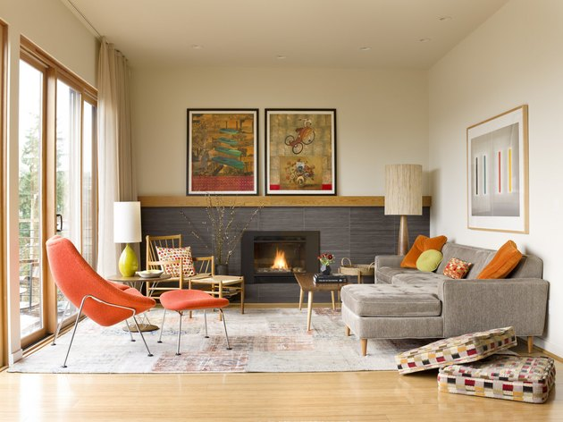 midcentury fireplace