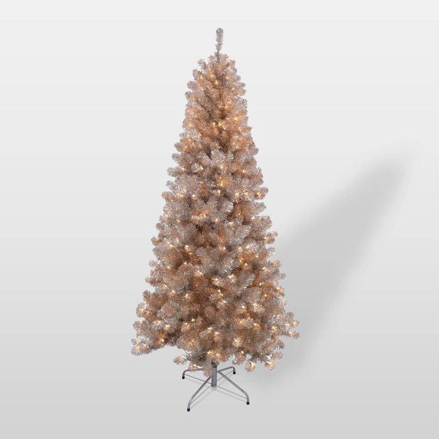 rose gold artificial Christmas tree