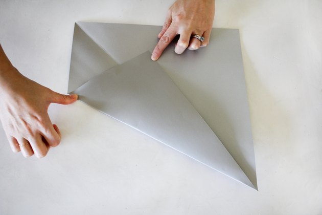 Folding paper to make Christmas star