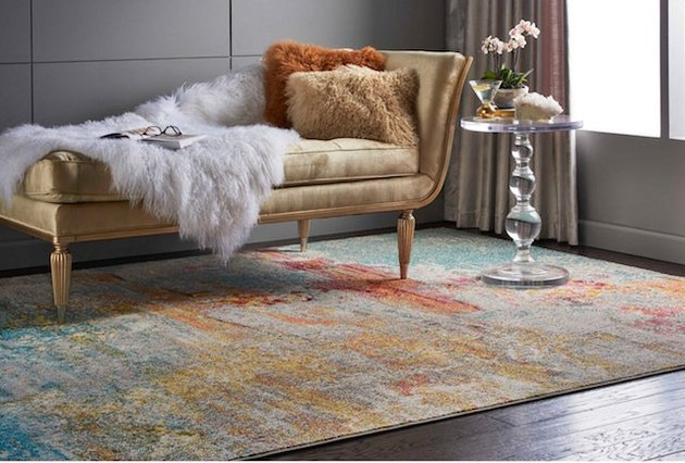 Hayneedle celestial-inspired indoor rug