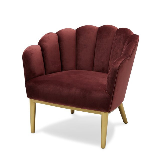 maroon scallop chair