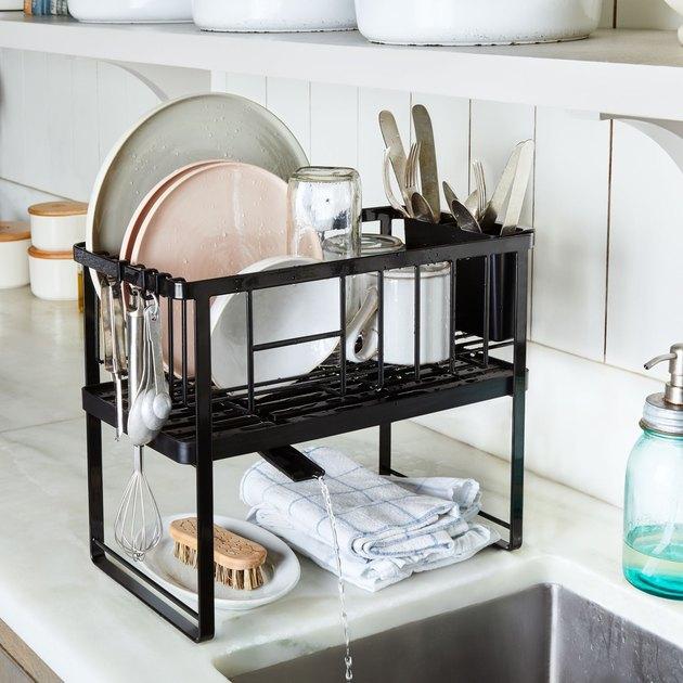 yamazaki home double decker dish rack