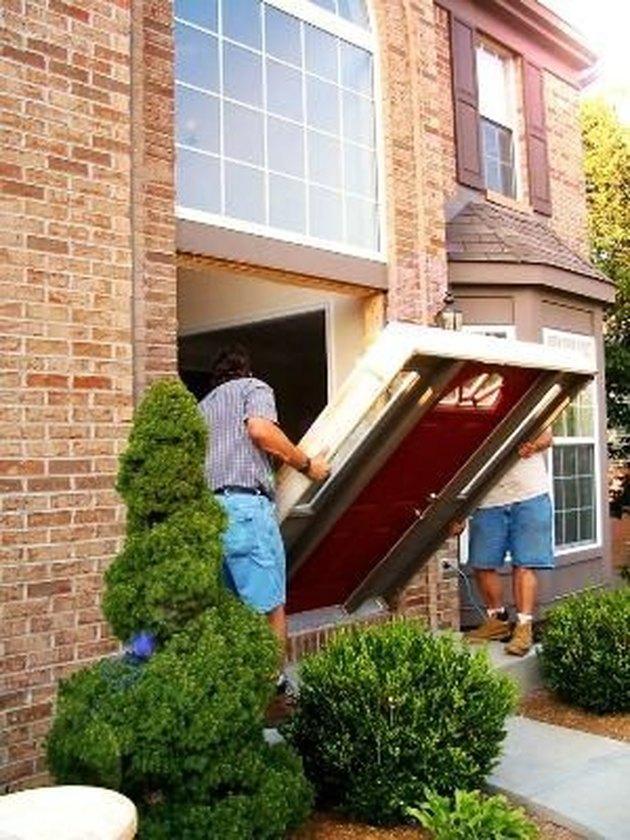 Installing exterior prehung door.