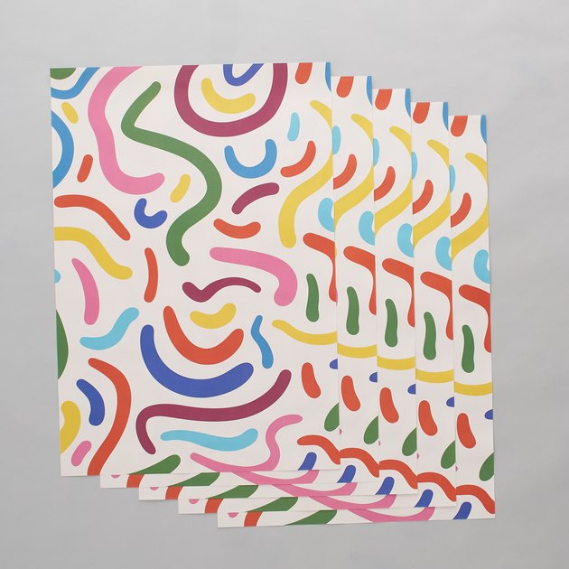 colorful wrapping paper