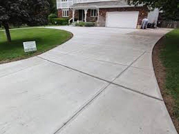 Concrete driveway.