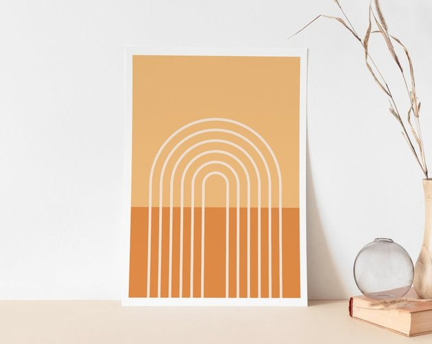 sundrysociety warm rainbow art print