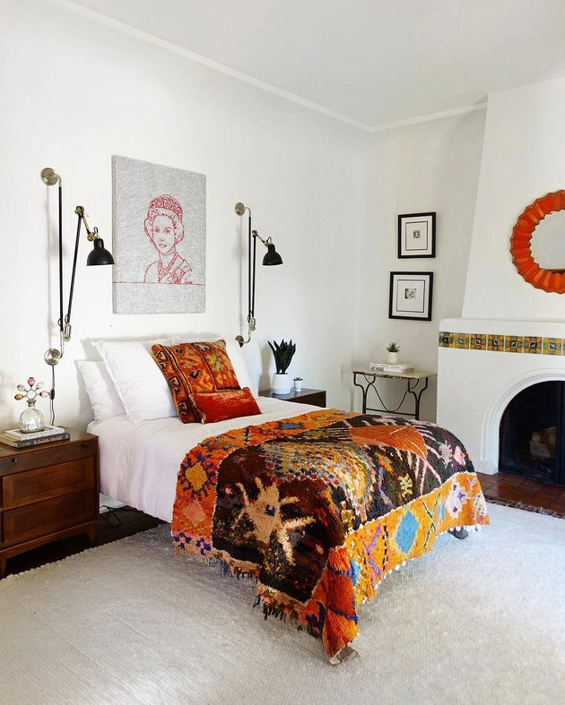 orange bedroom decor