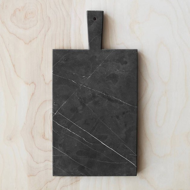 Black marble serving board