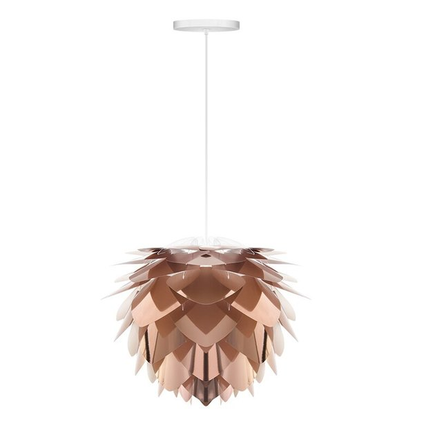 copper dining room light, Mercury Row organic sculptural style lamp shade