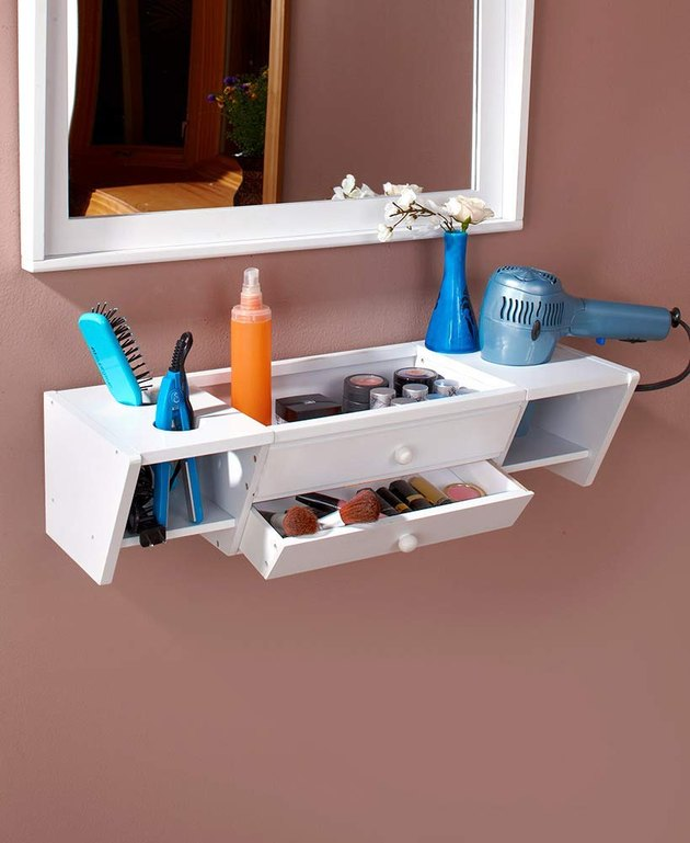 floating bathroom organizer
