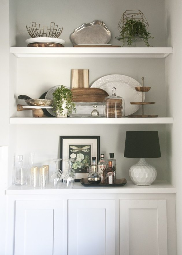 Built-in dining room shelves by Earnest Home Co.