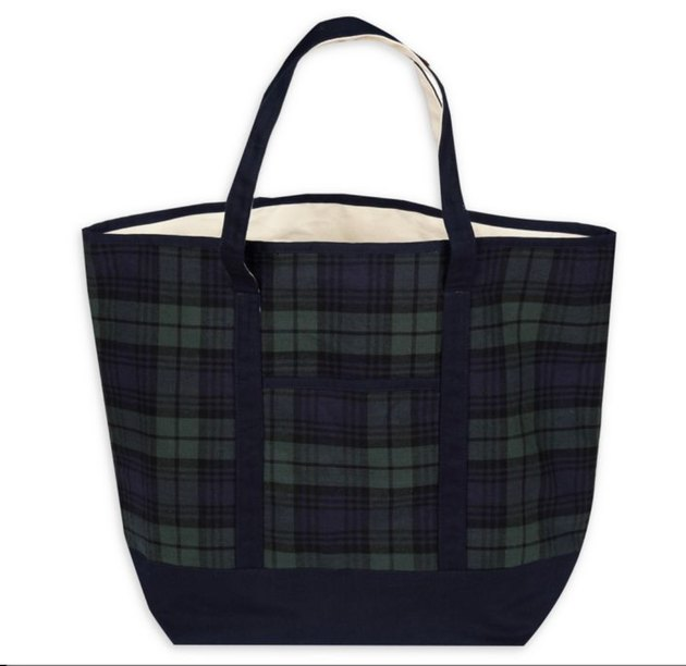 Large Plaid Tote Bag, $9.99