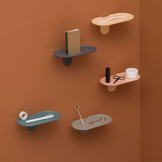 colorful floating storage shelf