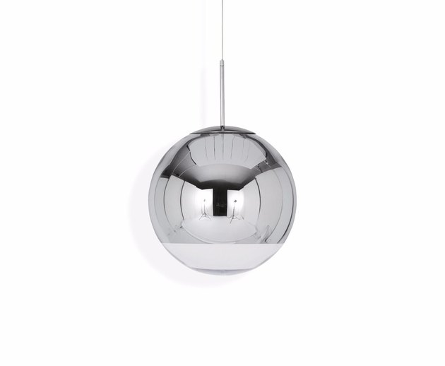 Mirrored globe pendant light