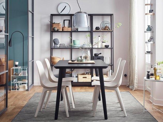 Freestanding dining room shelves Vittsjo Storage Combination by IKEA