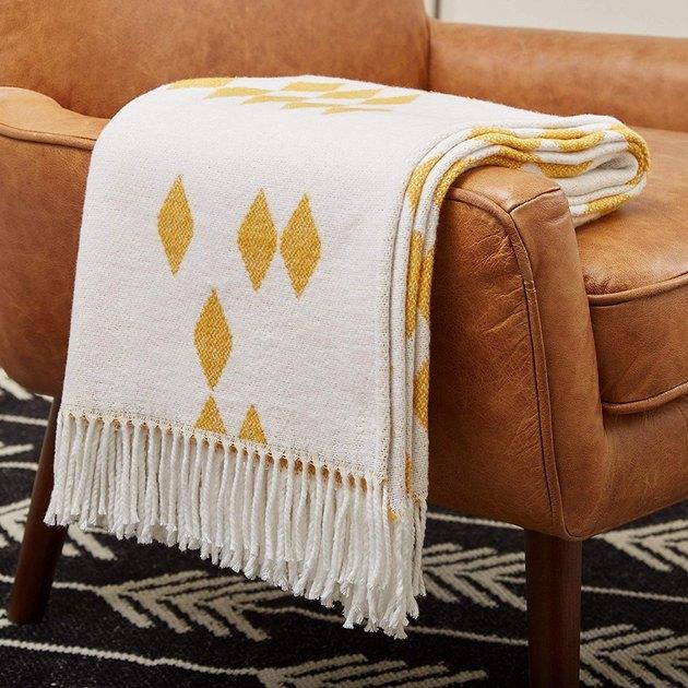 rivet geometric throw blanket