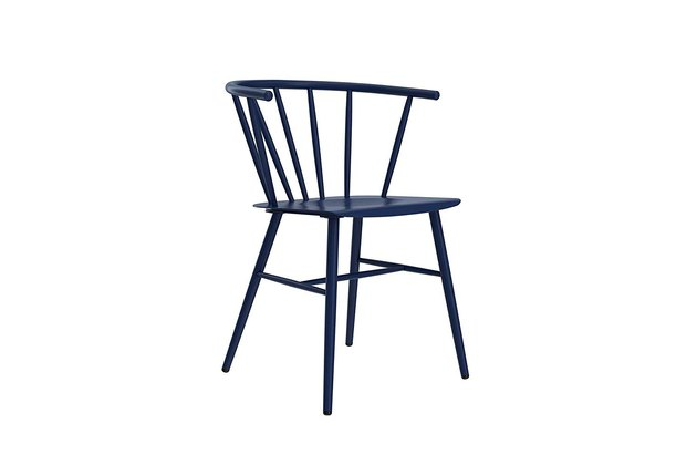 blue spindle chair