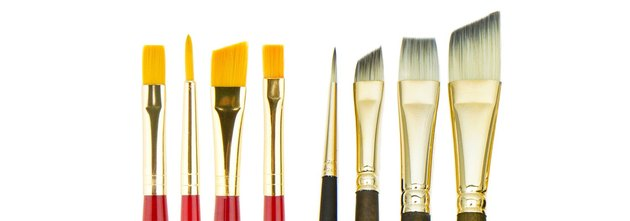 Collection of paint brushes.