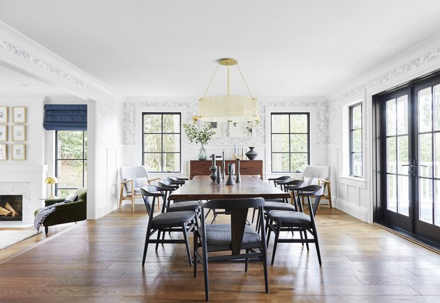 Dining room wainscoting by Emily Henderson