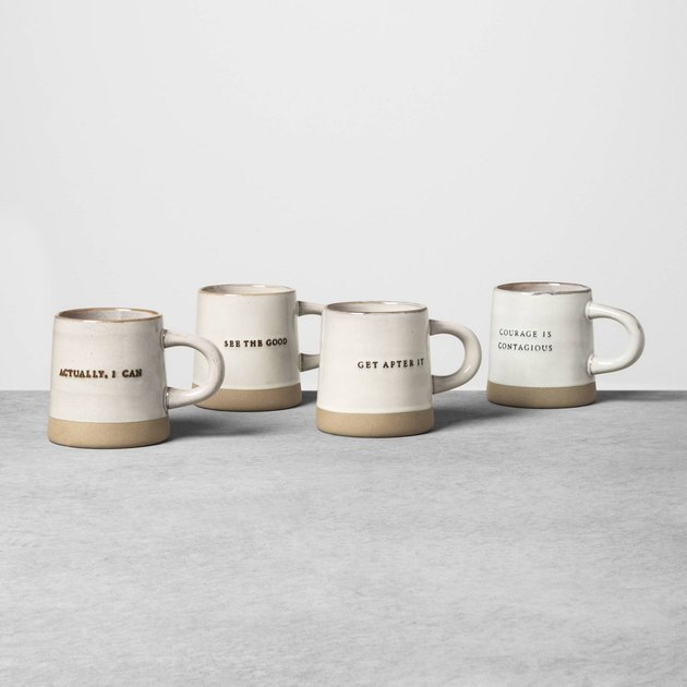 white and tan mugs