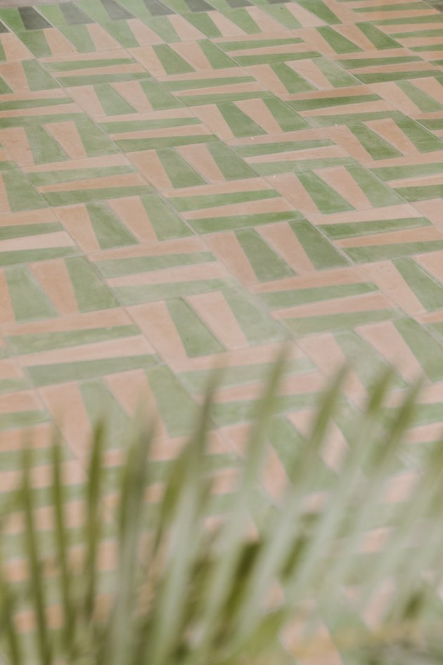 unique outdoor floor tile design