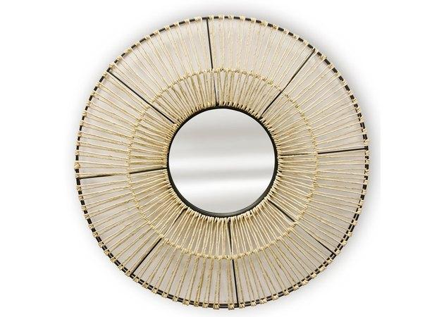 StyleCraft Round Woven Mirror, $90.99