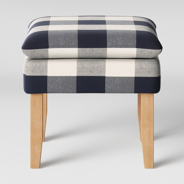Threshold Buffalo Blue Plaid Stool, $79.99